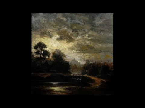Study after: Jules Dupré Landscape by Moonlight 8×8 Tonalist Landscape Oil Painting