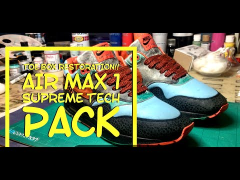 Air Max 1 Supreme Tech Pack Toe Box Restoration