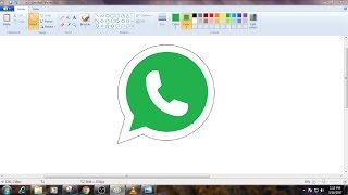 How to Draw WhatsApp Logo in MS Paint from Scratch!