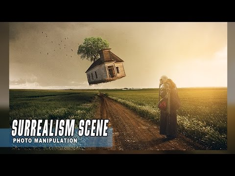 Simple Surreal Manipulation Scene Effect Editing Tutorial Photoshop