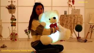 Glowing Colours Teddy Bear Figurine Plush Toy - Red Leaf Bear