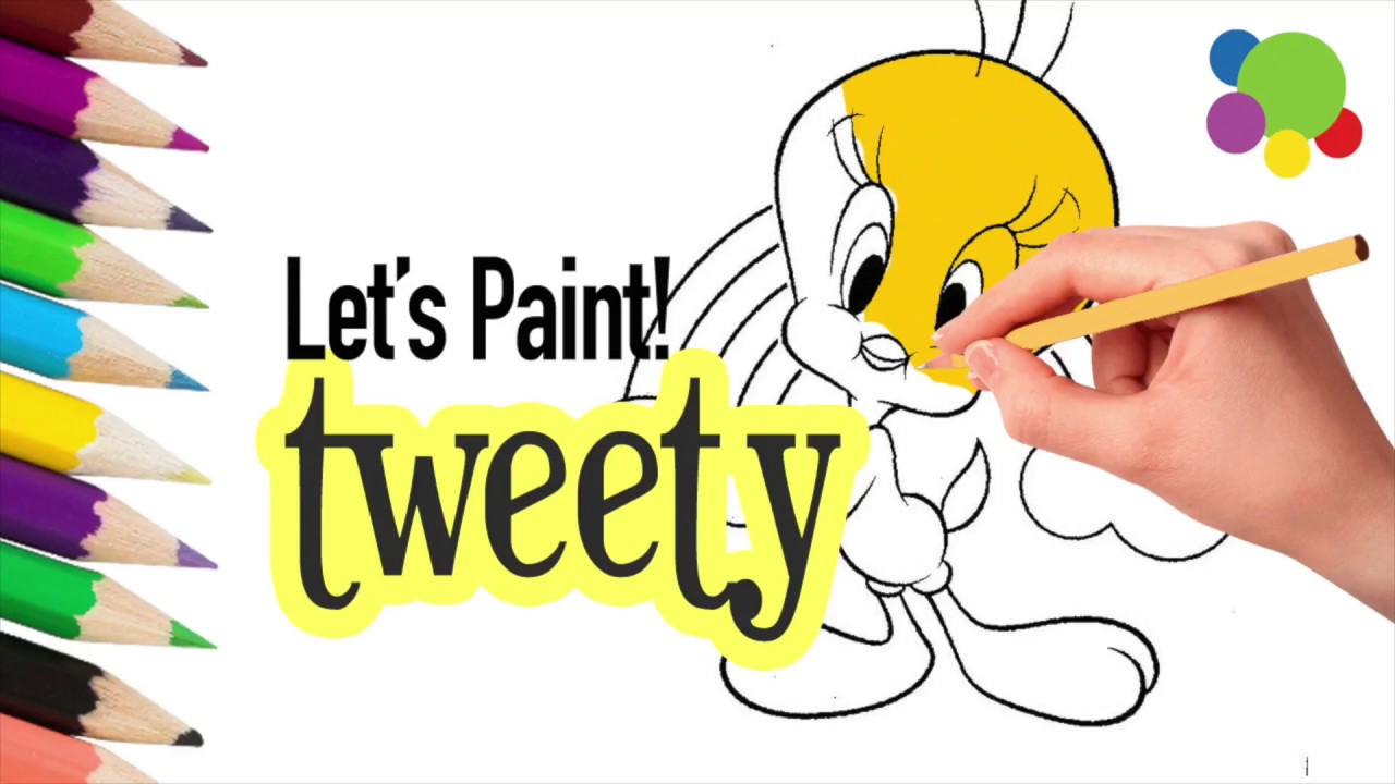get your sketches to color cute tweety painting for kids