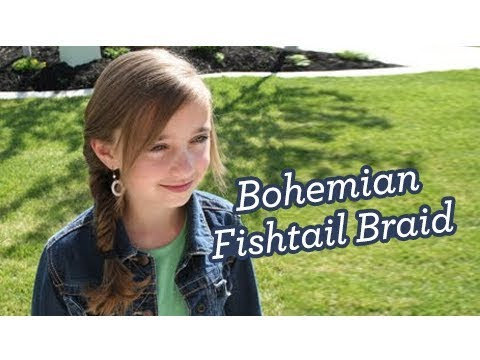 Bohemian Fishtail Braid | Long Hair | Cute Girls Hairstyles