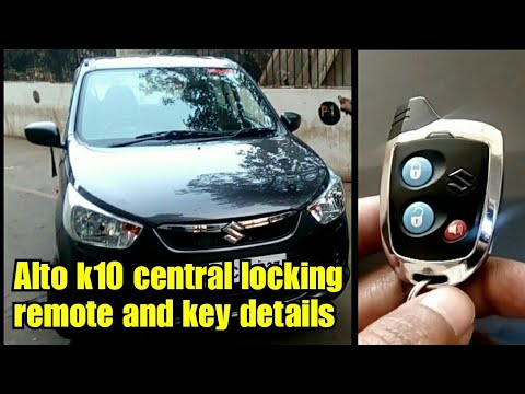 Alto k10 central locking remote and key details