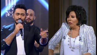 صاحبة السعادة - النجم تامر حسني يبدع بأغنيته