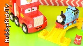 Thomas The Train Mega Blocks, Lightning Mcqueen Goes To Race!