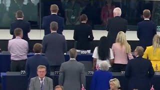英ブレグジット党、欧州議会で「欧州の歌」に背を向ける ベートーヴェン作曲