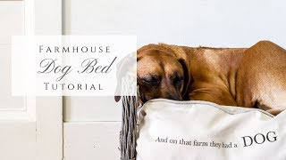Farmhouse Dog Bed Tutorial