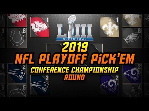 2019 NFL Conference Championship Round Playoff Pick'em | Super Bowl Predictions