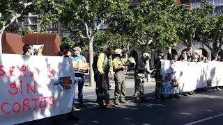 Bomberos forestales siguen con sus protestas