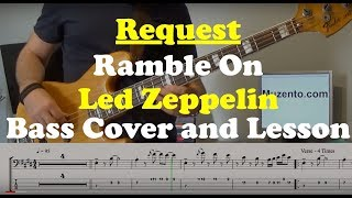 Ramble On - Bass Cover and Lesson - Request