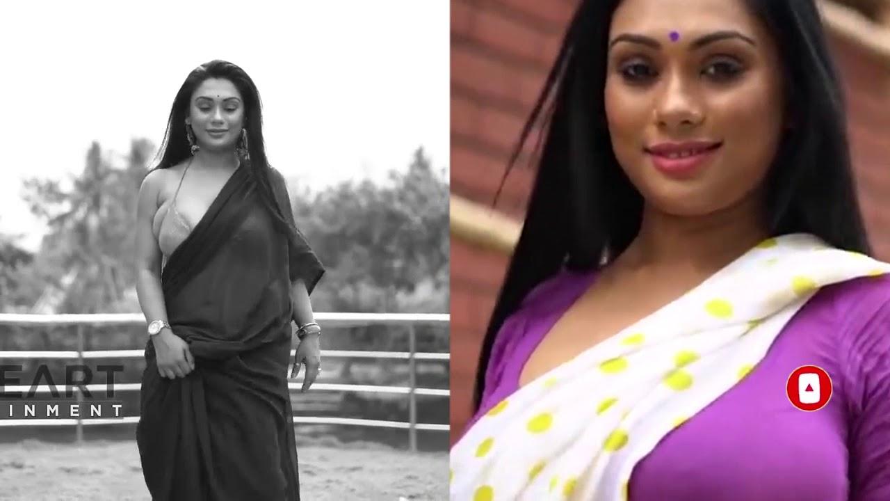 Download Bong Beauty | Saree Fashion | Nancy | Black Purple & White Saree Comparing