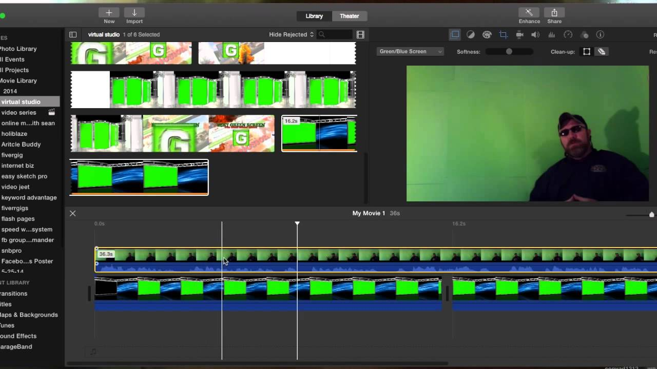 How to Edit Virtual Studios with Green Screens in iMovie on Yosemite