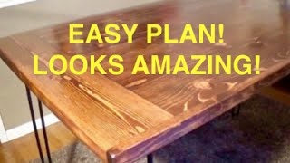 HOW TO BUILD A FARMHOUSE KITCHEN TABLE - COMPLETE AND EASY PLAN 2