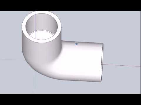 Sketchup PVC Elbow Fitting Tutorial