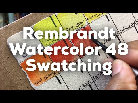 Rembrandt Watercolor set of 48 unboxing, first impressions and swatching