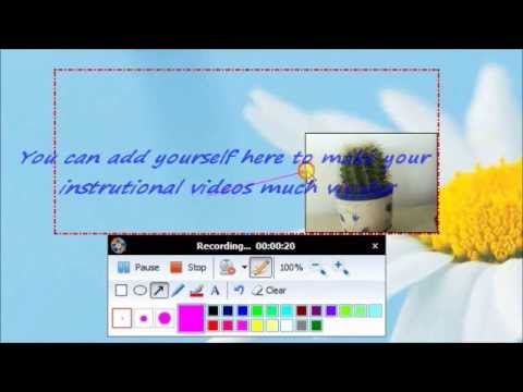 How To Make An Instructional Video With Webcam Youtube