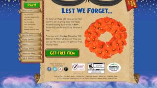 Wizard101: How to get a Free Poppy Wreath for Veteran