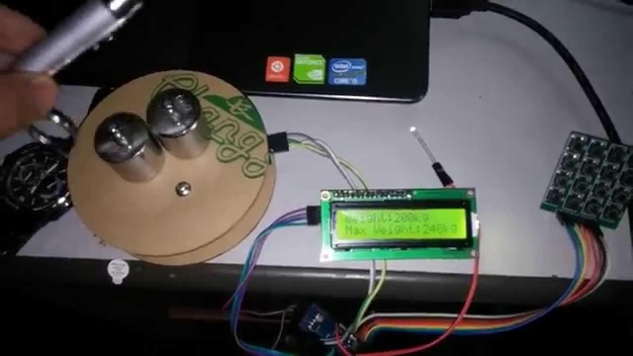 Loadcell Hx711 Arduino Lcdi2c Youtube