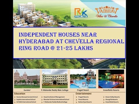 independent houses near hyderabad at chevella  19 25 lakhs house in highway china house in highway