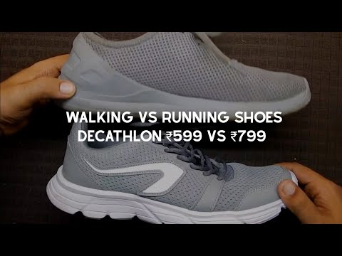 Sotavento mientras Manía  Decathlon Running Shoes @ ₹799/- || Running vs Walking Shoes || The Desi  Backpacker - YouTube