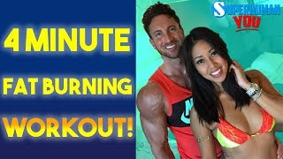 BEST Cardio to BURN FAT | 4 Minute HIIT Fat Loss Workout!