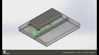 [WI-FOS-190802] ถาดสำหรับใส่เครื่องมือวัดเข้าเตาทอดสายพาน l Fryer Tray Design Introduction