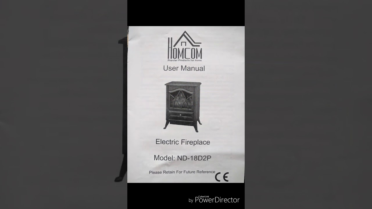homcom electric fireplace nd 18d2p youtube