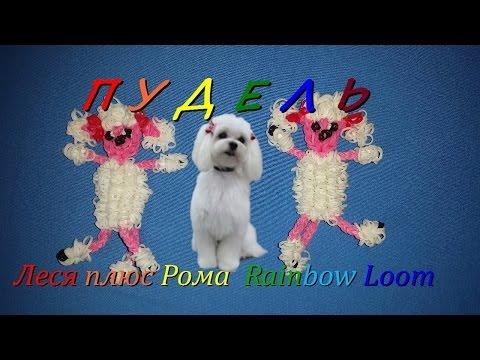Как плести из резинок Rainbow Loom Bands пуделя 3 часть