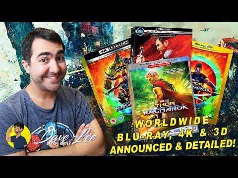 THOR: RAGNAROK - Blu-ray, 4K, 3D & DVD Announced and Detailed