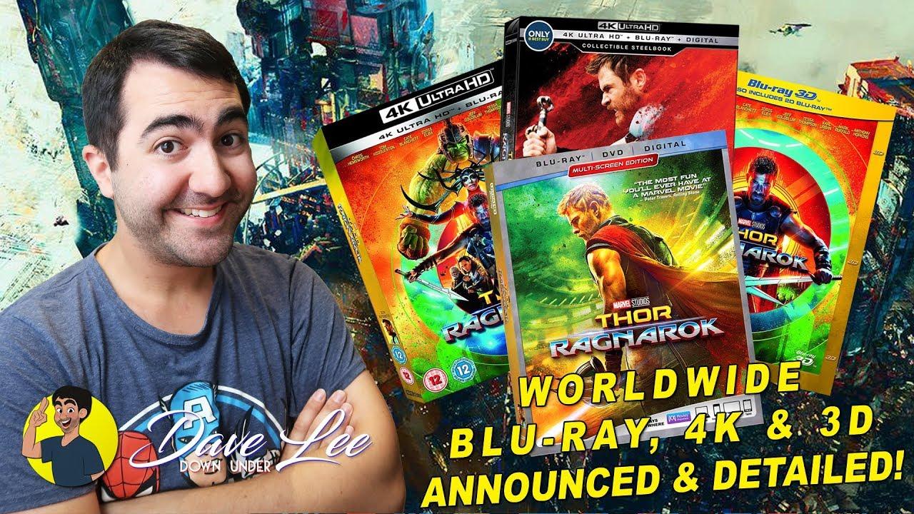 Thor Ragnarok Blu Ray 4k 3d Dvd Announced And Detailed Youtube