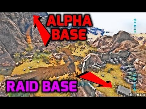 Ark: WE BUILT OUR RAID BASE RIGHT BESIDE THE ALPHA TRIBE!!  PvP Small Tribes