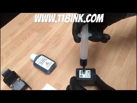 How to Refill a black ink cartridge hp 60 60xl  61 61xl 62 63 64 65 65xl 303 303xl 304 304xl 662