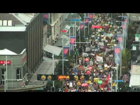 Auckland anti mining protest, May 1st 2010