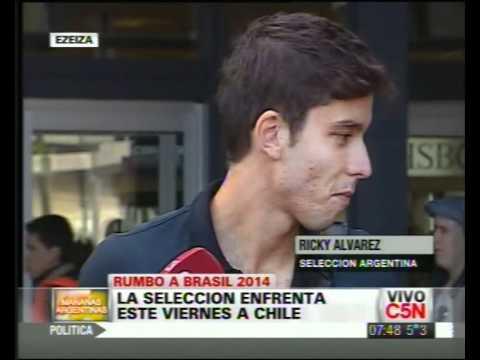 C5N - SELECCION ARGENTINA: LLEGAN LOS JUGADORES [HABLO RICKY ALVAREZ]
