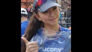 美ジョガー・西内ひろ!東京マラソンを42.195秒で再現