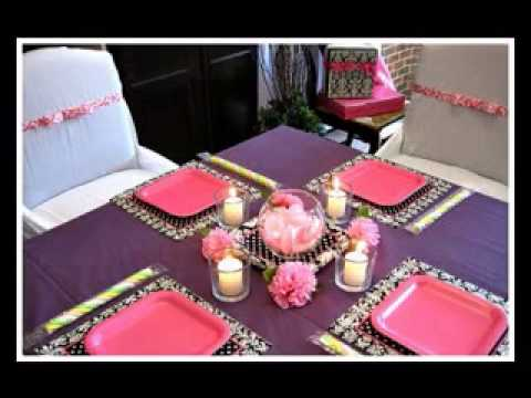 DIY Cheap Baby Shower Centerpiece Decorating Ideas   YouTube