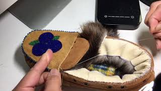 Sewing Fur Trim onto Slippers