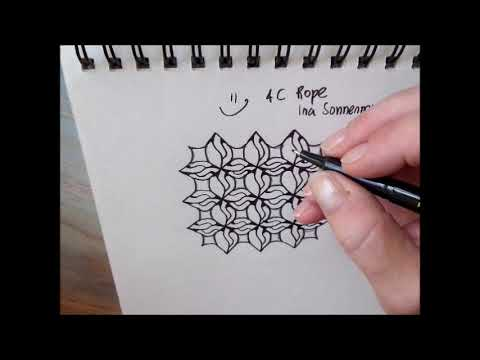 How to draw pattern 4C Rope in 2 ways