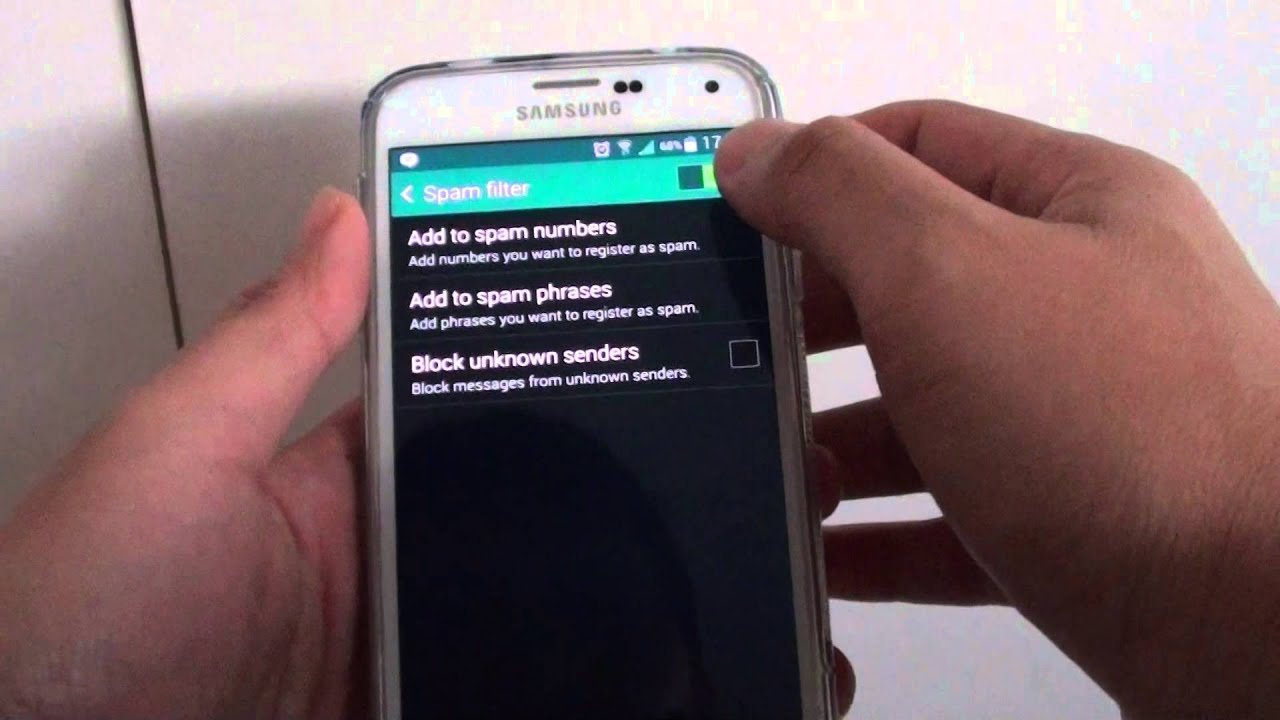 Samsung Galaxy S5: How to Block SMS Text Messages from Unknown Sender