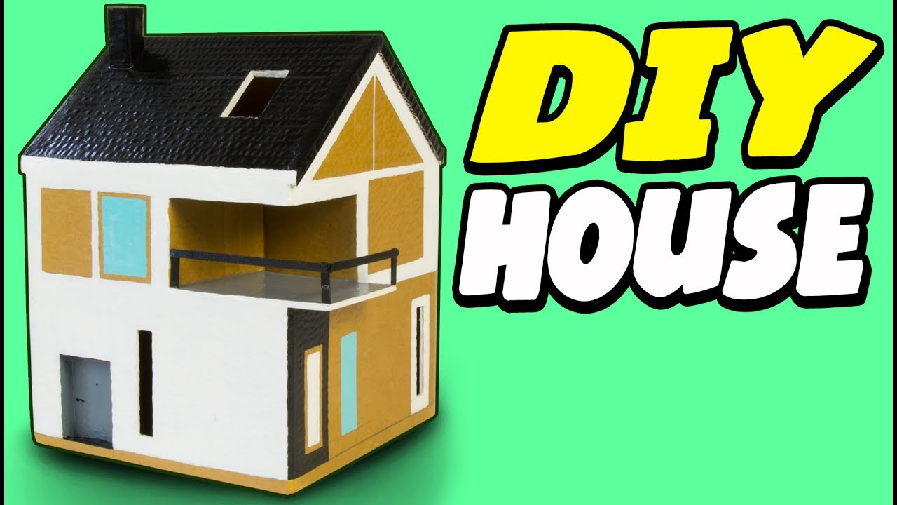 Diy cardboard house scandinavian craft ideas for kids for How to make a house from cardboard box