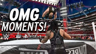 WWE 2K16 - All OMG MOMENTS! PS4 & XBOX ONE