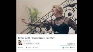 Reaction to blank space parody -
