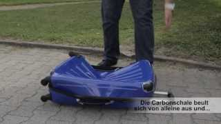 XAVION® Trolley Koffer, Vergleich: 100% Polycarbonat vs. ABS-Poly-Mix, DEUTSCH
