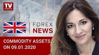 InstaForex tv news: 09.01.2020: Trump refuses to counterattack Iran, oil unlikely to reach $100 (Brent, USD/RUB)