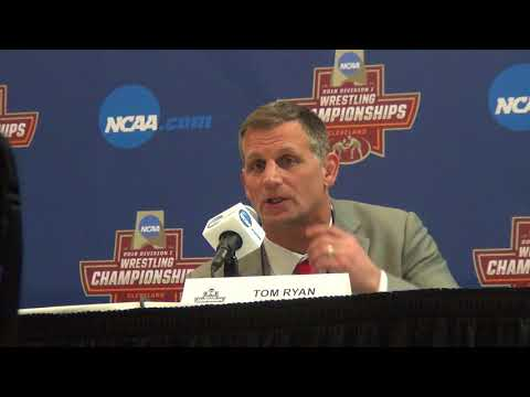 Ohio State coach Tom Ryan after semifinals at the 2018 NCAA Championships