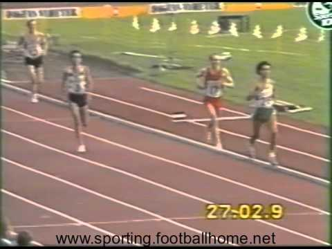 Atletismo :: Fernando Mamede bate o recorde do Mundo dos 10000m em Estocolmo a 2/7/1984