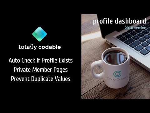 Custom Profile Login Dashboard with Private Duplicate Search Wix Code - 2018