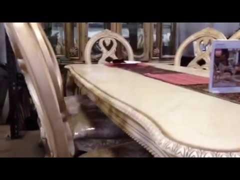 white wash dining room set.  Tuscany Antique White Wash Formal Dining Table Set YouTube