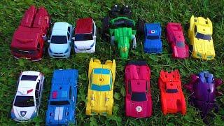 Роботы трансформируются на траве. Мультики для мальчиков.